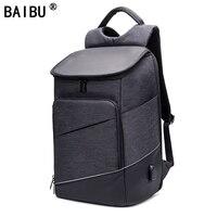 BAIBU Multifunction USB Charging Men 15 6 Laptop Backpacks For Teenager Fashion Male Mochila Leisure Travel