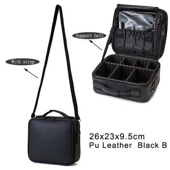 Professional clapboard portable cosmetic bag small portable simple makeup waterproof storage bag 3