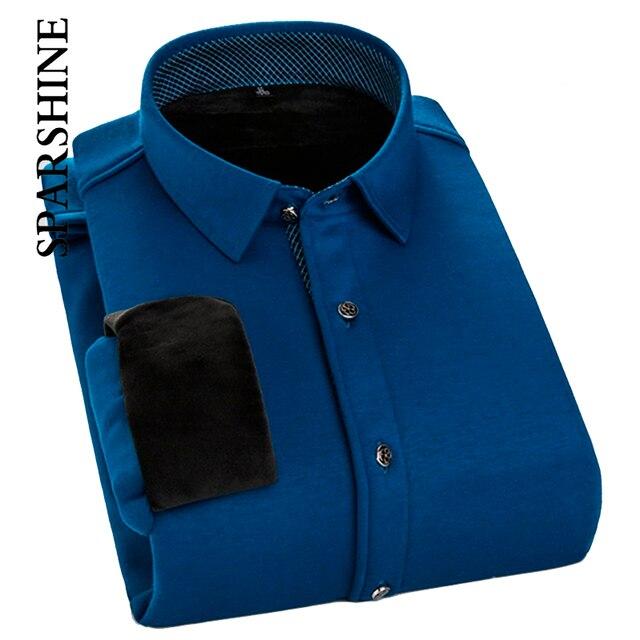 Nova Chegada do Inverno Engrossar Quente Ocasional dos homens Camisa Dos Homens Vestido de Camisa de Manga Comprida Camisa Masculina Camisa do Negócio Homem Chemise Homme