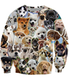Puppies Collage Crewneck Sweatshirt the cutest Cat Funny Sexy Jumper Women Men Sweats  Tops  Hoodies Plus Size