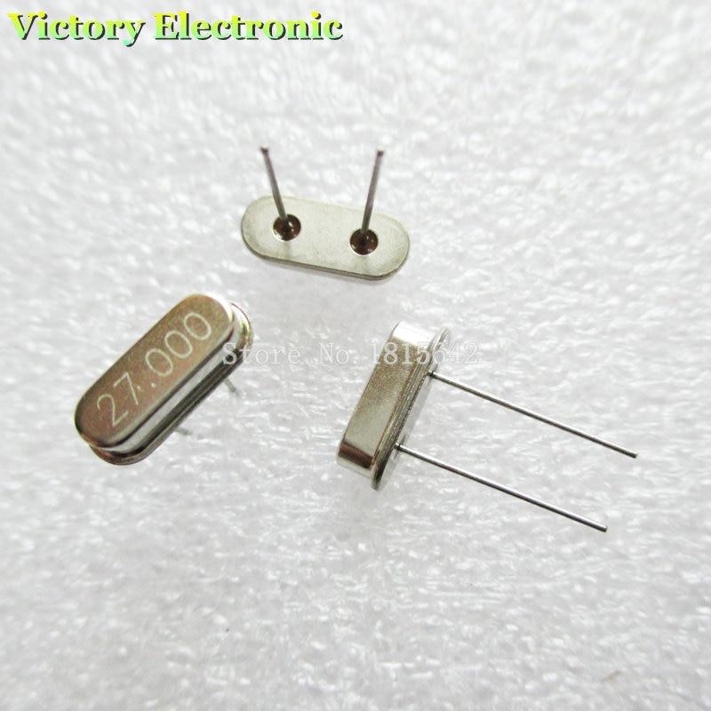 10PCS/Lot Crystal Oscillator Crystal Resonator 27MHz 27M 27.000MHz 27.000M 27.000 49S HC-49S DIP-2 Passive Crystal Quartz