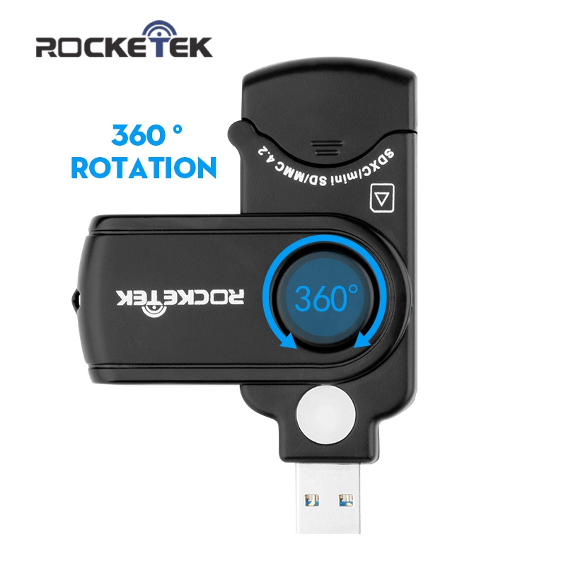 Rocketek high quality usb 3.0 multi 2 in 1 memory card reader adapter for SD/TF micro SD for pc computer laptop accessories 2