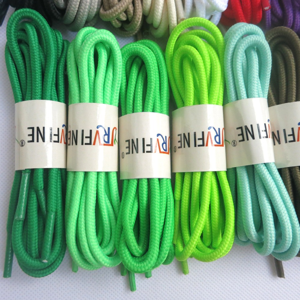 YJRVFINE Wholesale 10 Pair Round Athletic Shoelaces Shoe Laces for Basketball Soccer Shoes String Laces Rope Shoelaces
