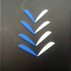 Image 5 - 50 pièces 2icnh caoutchouc plume 2 couleurs tir à larc en plastique Fletch Vanes pour mixte carbone flèche tir à larc chasse tir à larc accessoire
