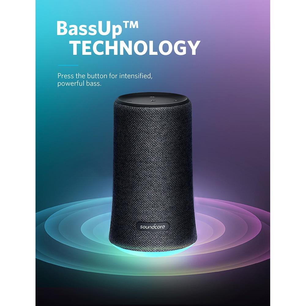 Waterproof Stereo Subwoofer Bluetooth Wireless Speaker Treble Sound Bass Round