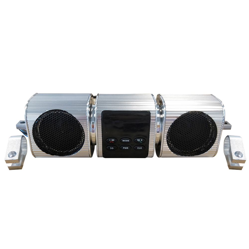 Fine-quality Voice Waterproof Motorcycle Audio Sound System Stereo Speakers BT MP3 FM Music Player TF/USB/AUX Multifunctional цена