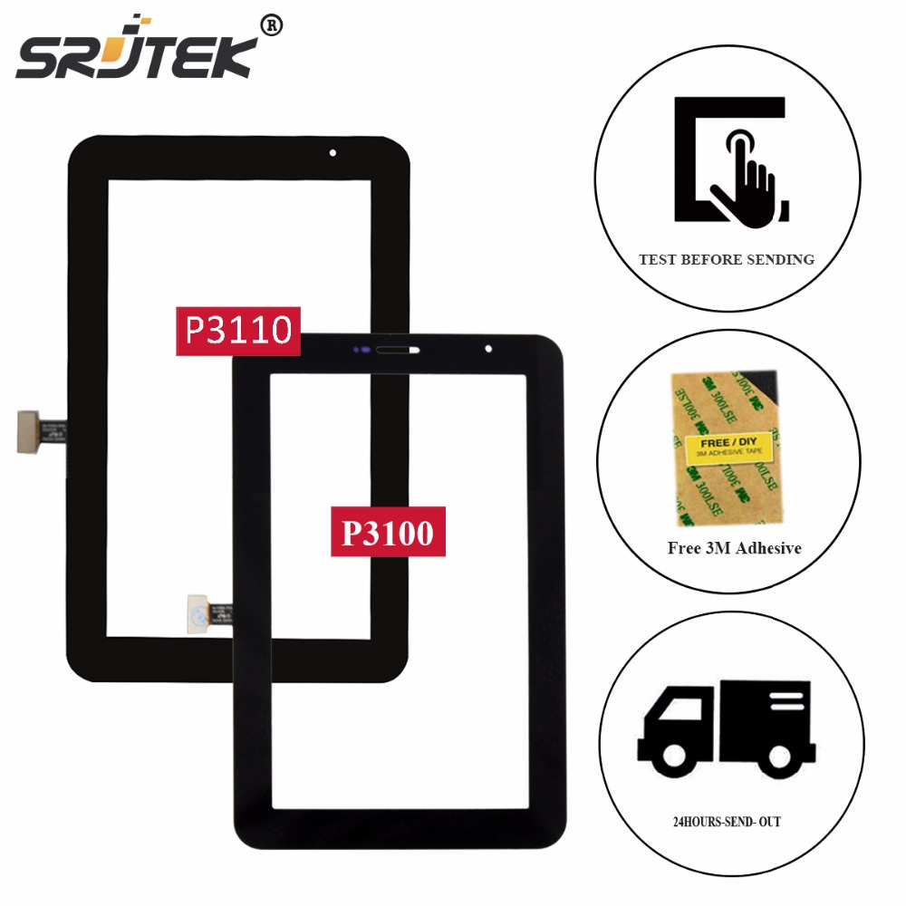 Srjtek 7 For Samsung Galaxy Tab 2 7.0 P3100 P3110 Touch Screen Panel Glass Sensor Digitizer Tablet PC Replacement Parts srjtek 7inch for acer iconia tab7 tab 7 a1 713 lcd display touch screen digitizer sensor replacement parts tablet pc