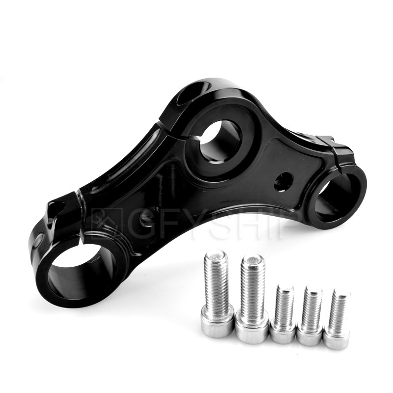 39mm Billet Aluminum Motorcycle Top Triple Clamps For Harley Sportster 48 w/ Riser Holes 2010 to 2015 XL883 XL1200 XL883N 48 72 motorcycle rear adjustable 1 2 3 lowering kit for harley sportster xl883 xl1200 2005 2013 hugger roadster low 48 72