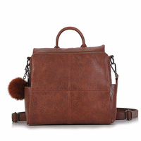 J Q High Grade Multi Funtion Ladies Tote Bag Fashion Retro Style Pu Leather Soft Face