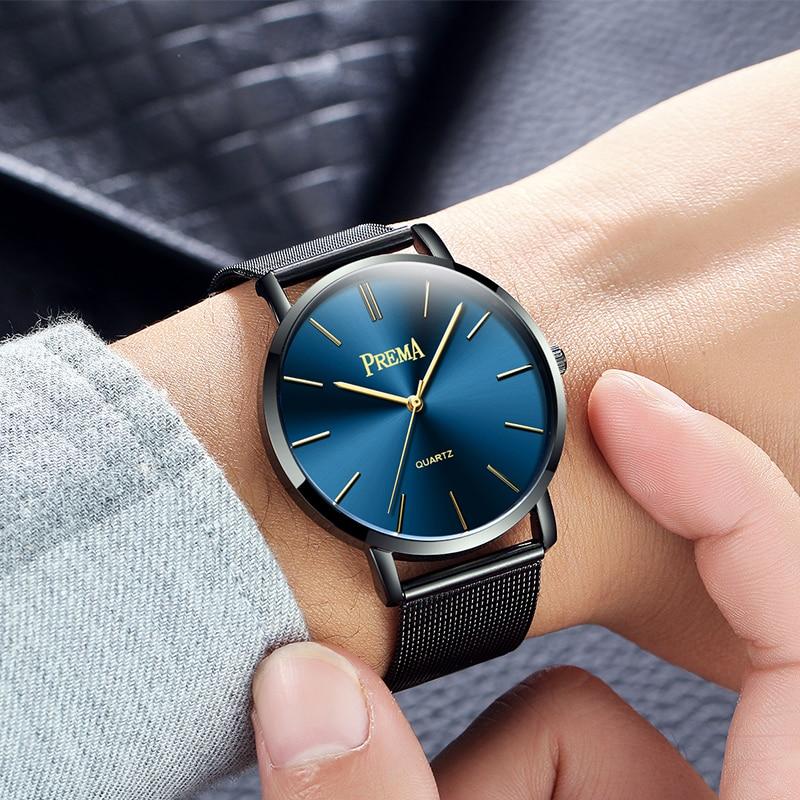 Couple Watch Mens Women Watches Quartz Male Female Wrist Watches Clock Bracelet Black 2018 Luxury Brand Wristwatches Ultra Thin