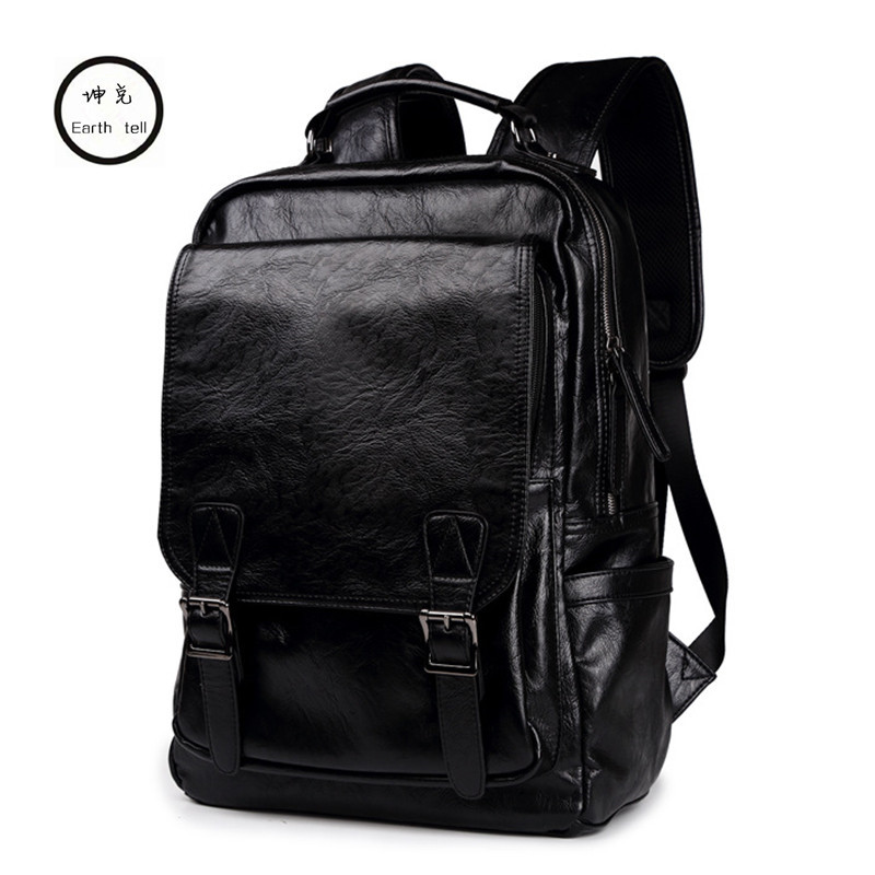 New Arrival Male Functional bags Fashion Men Travel backpack PU Leather backpack big capacity Men laptop School Bag Boy Leisure ly12014the new leisure backpack hiking backpack shoulders laptop bag male or female capacity students bag fashion women backpack