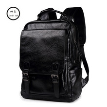 New Arrival Male Functional bags Fashion Men Travel backpack PU Leather backpack big capacity Men laptop School Bag Boy Leisure