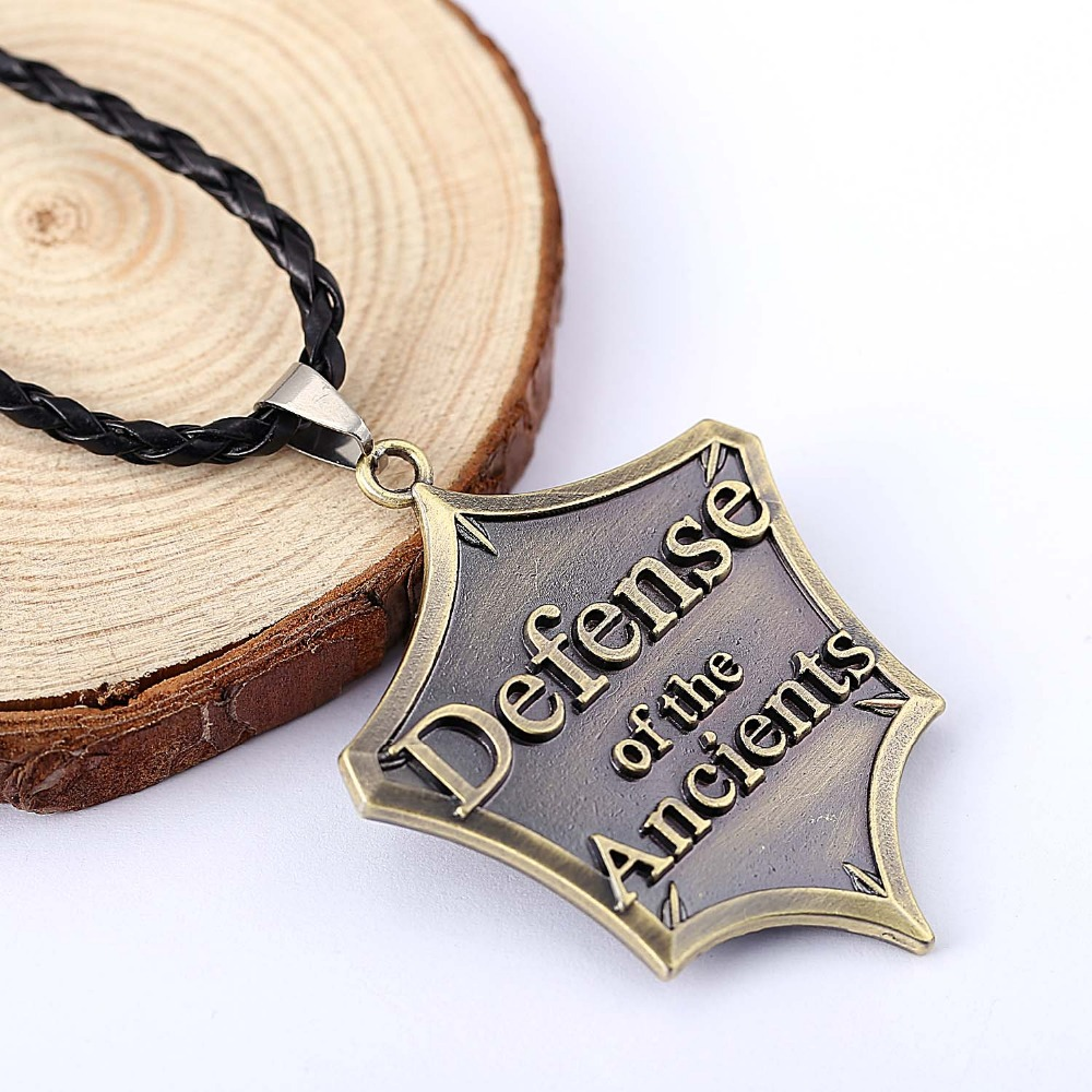 Ti8 H&F Online Game dota 2 Defense of the Ancients Pendant Necklace Men High Quality Alloy fashion necklaces Jewelry Trinket