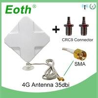 Eoth 3g 4 аппарат не привязан к оператору сотовой связи антенна SMA мужской кабелем 2м 35dBi 2 * SMA разъем для 4G модем роутер + адаптер гнездо SMA CRC9 Штек...