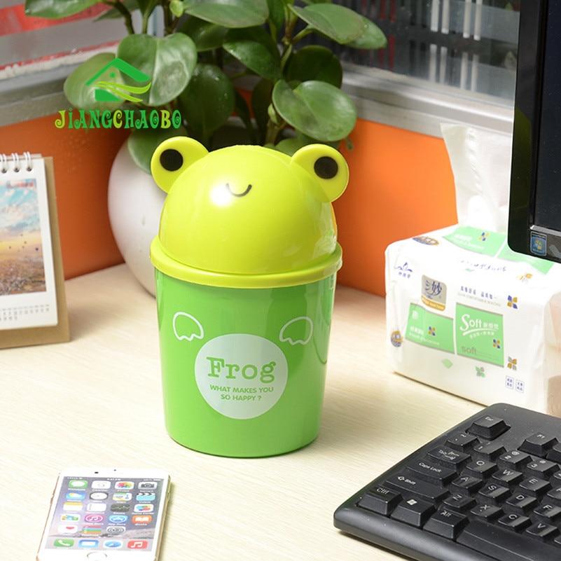 Mini Bucket Bucket Kartun Cute Trash Barrel Creative Desktop Storage - Organisasi dan penyimpanan di dalam rumah - Foto 5