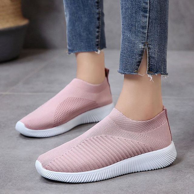 Women Shoes Fashion Socks Sneakers For Women Vulcanize Shoes Plus Size 43 Breathable Basket Femme Stretch Flat Casual Shoes