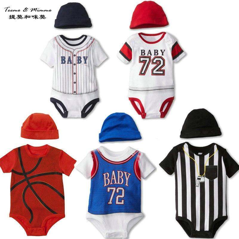Teemo & Mimmo Basketball Soccer Baseball pattern newborn