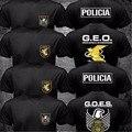 Verano Fresco 3D de Impresión España GEO SWAT de Las Fuerzas Especiales de la Policía Nacional Policia VA Logo Espana Camiseta Hip Hop Marca O Cuello camisas