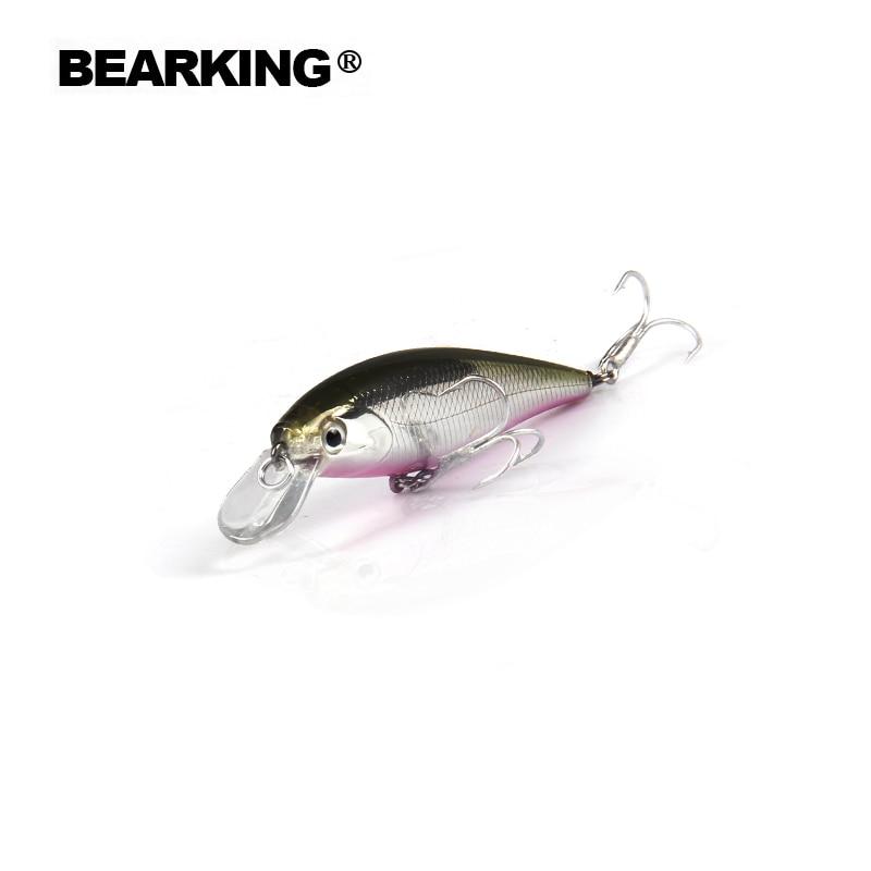 Bearking Retail 2017 los señuelos de buena pesca minnow, bear king calidad cebos profesionales 65mm / 5g, swimbait articulado cebo