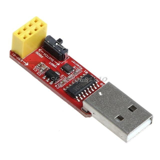Módulo adaptador USB a ESP8266 ESP-01 Wi-Fi con controlador CH340G Z09 Envío Directo