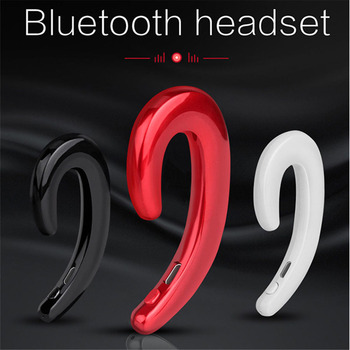 K8 骨伝導 Bluetooth ヘッドフォンイヤーフック痛み着用ワイヤレスヘッドセット音楽イヤフォン Iphone Xiaomi