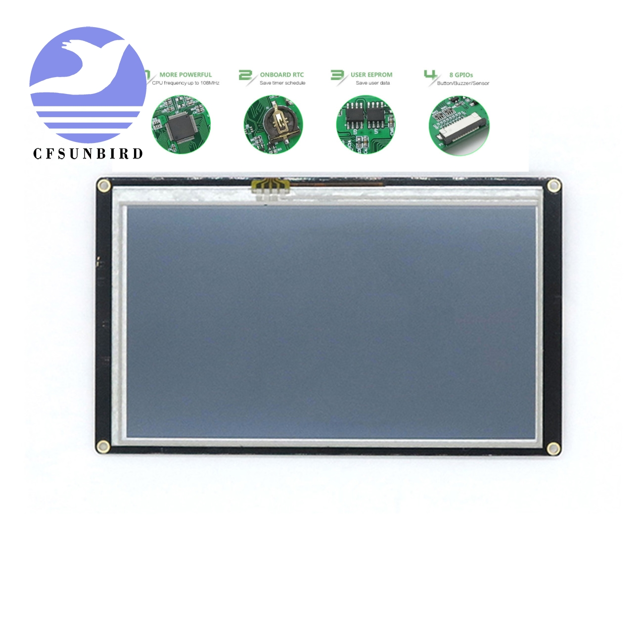 CFsunbird LCD Display Nextion Enhanced 7.0 HMI Touch TFT Display Raspberry Pi Lcd Controller Board NX8048K070-in LCD Modules from Electronic Components & Supplies