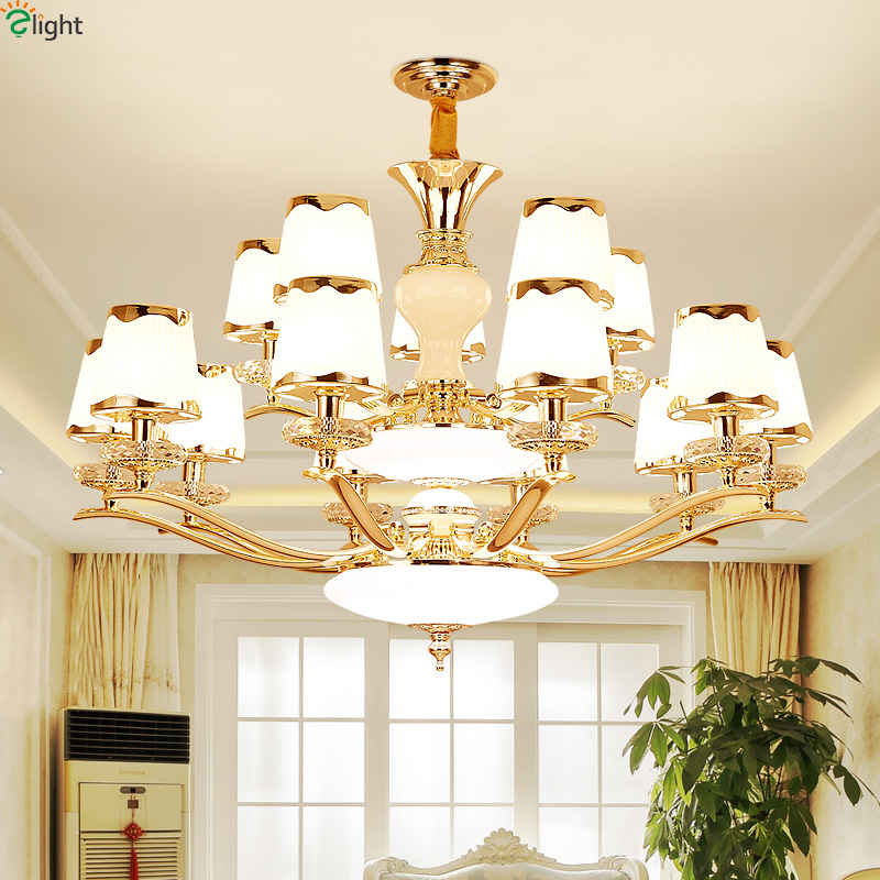 Modern Gold Metal Led Chandeliers Lighting Living Room Glass Led Pendant Chandeliers Lights Dining Room Hanging Lamp Fixtures modern glass ball led pendant chandelier lights metal living room led chandeliers lighting bedroom led hanging light fixtures