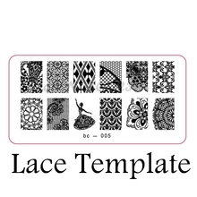 Fashion DIY Nail Stamping Plate Print Templates Ballet Girl Lace Stainless Steel Manicure Products bc-005X