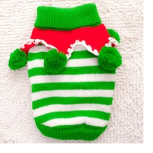 20pcs/lot Free shipping Christmas Warm Pet Dogs Cat Striped Sweater Coat Puppy Dogs Clothes Costume Knitwear Apparel WA1209