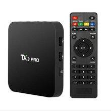 AKASO S905X TX3 PRO Android 6.0 Amlogic Quad core Set top box 1G 8G Android TV Box 2.4G WIFI Media Player Smart Tv Caja