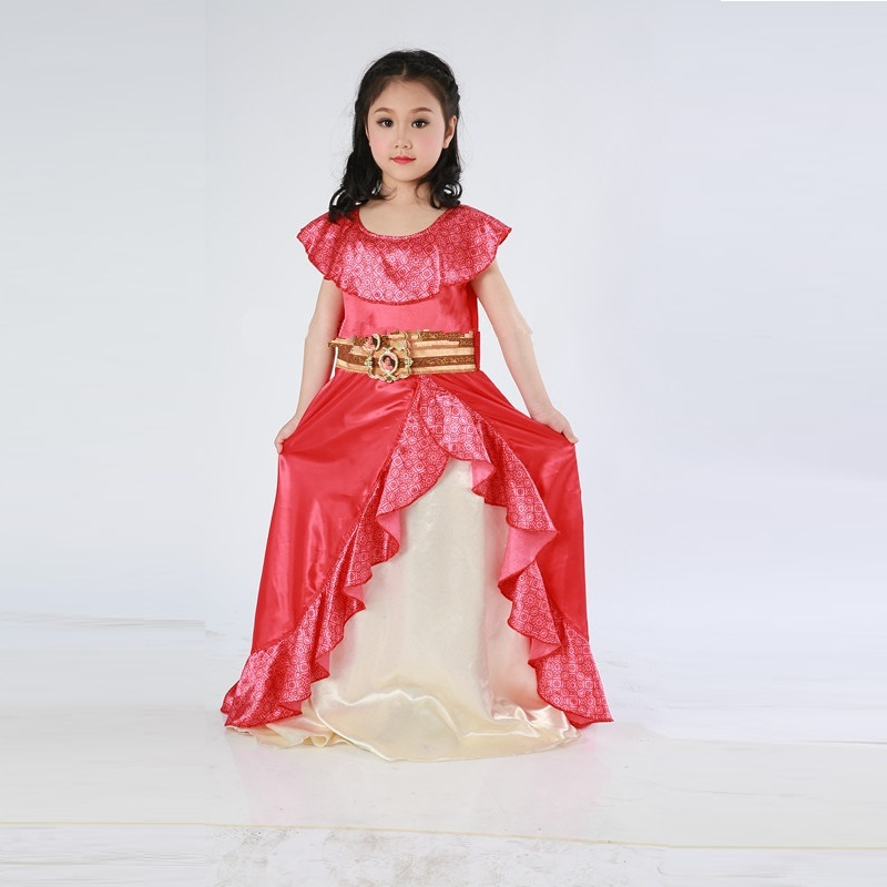 Princesa elena de avalor traje festa elena avalor para menina vestido aniversário trajes de halloween para crianças meninas crianças criança