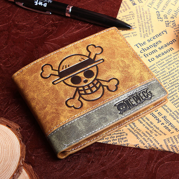 Cartoon Japan Anime One Piece Luffy Wallet With money Coin Pocket Zipper leather pu purse anime cartoon pocket monster pokemon wallet pikachu wallet leather student money bag card holder purse