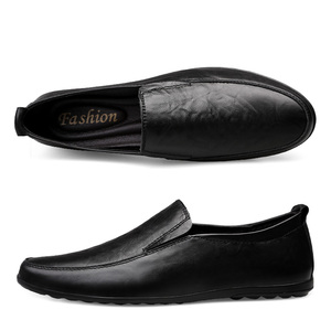 Image 3 - 2019 Men Winter Warm Plush Leather Party Dress shoes Breathable Male Fashion Loafers Black brown business leisure Casual Shoes