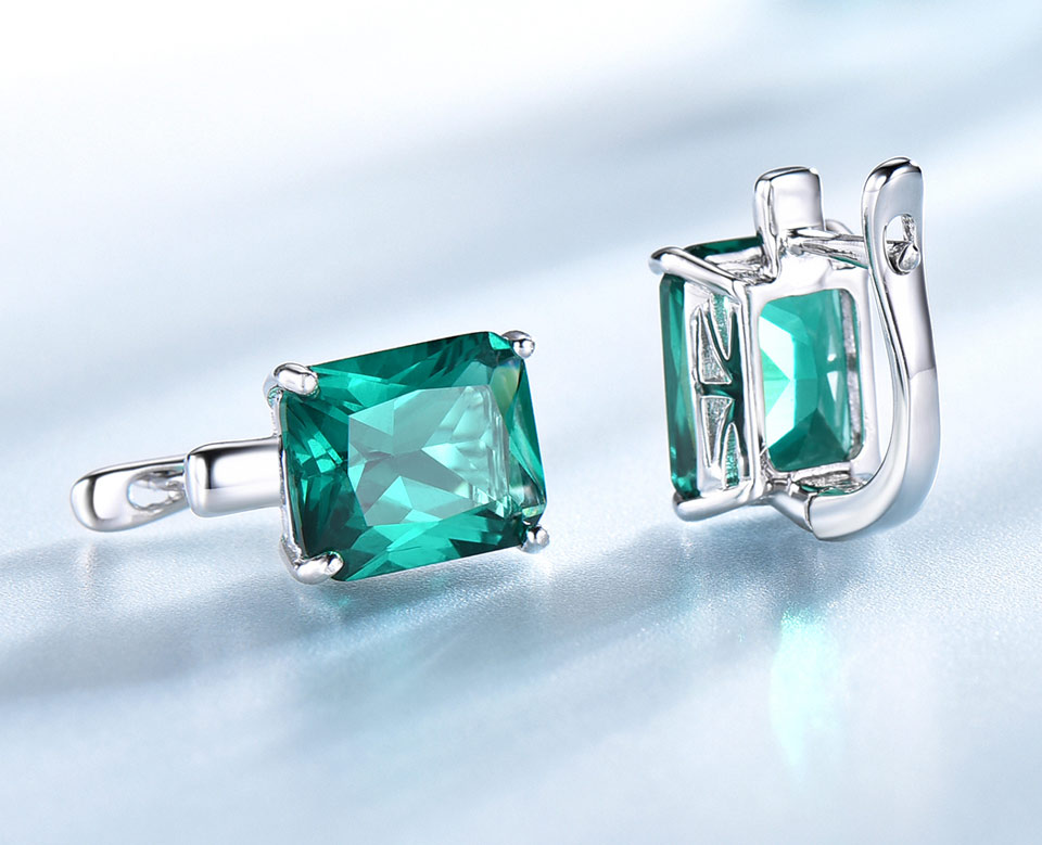 UMCHO-Emerald-925-sterling-silver-clip-earrings-for-women-EUJ083E-1-PC_05