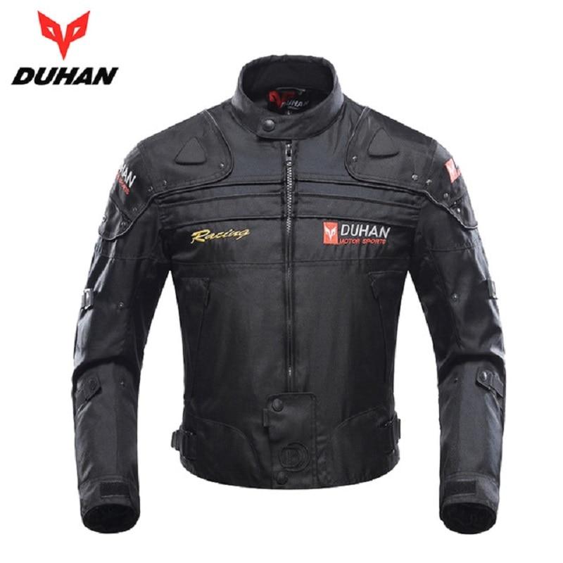 DUHAN Motorfiets Jassen Mannen Motocross Off-Road Racing Body Armor Beschermende Moto Jas Motor Winddicht Jaqueta Kleding