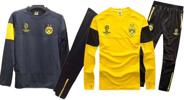 2015 survetement football borussia dortmund training suits BVB dortmund  champions league chandal futbol dortmund sweat pant suit 6beceae7b