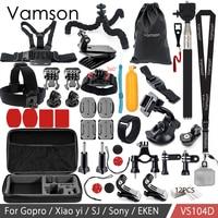 Vamson For Xiaomi Yi 4k Accessories Kit Monopod For Gopro Hero 6 5 4 3 For