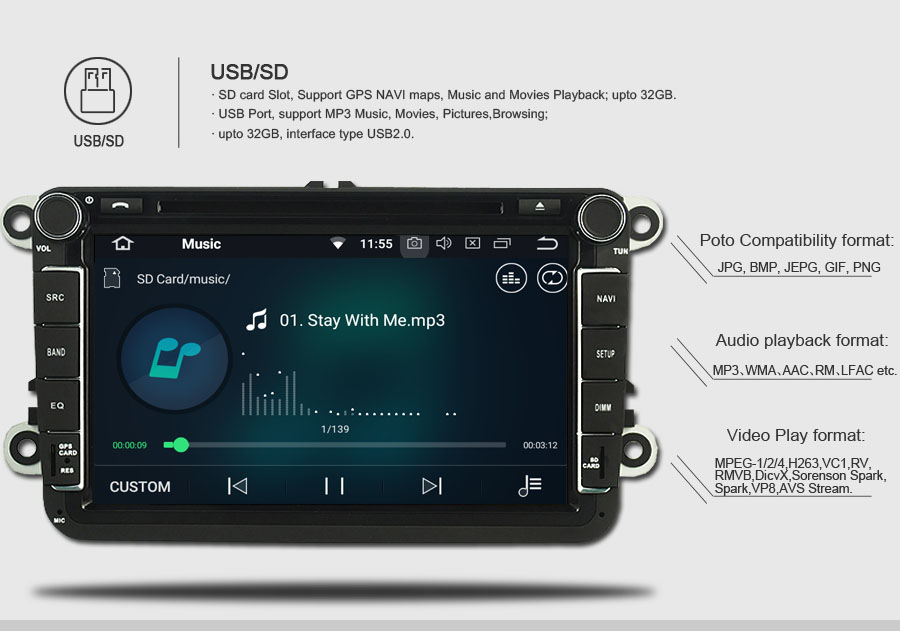 Top Octa-Core Android 8.0 CAR DVD Player for SEAT LEON 2013-2014 10