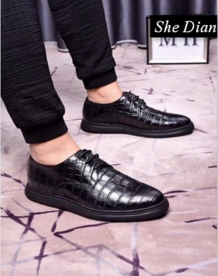 Confortable Pic Chaussures Color Pointu Dian pic Color Bout Haute En Cuir Elle Hommes Qualité Véritable Lacent 2018 Robe wqO1n4S