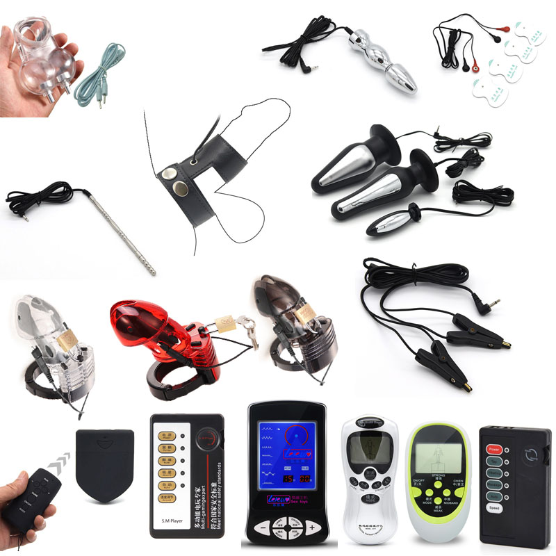 Electric Shock Bullet Anal Plug Pulse Vibrator Electro Stimulation Nipple Clamps Clitoris Penis Electric Medical Themed Toys