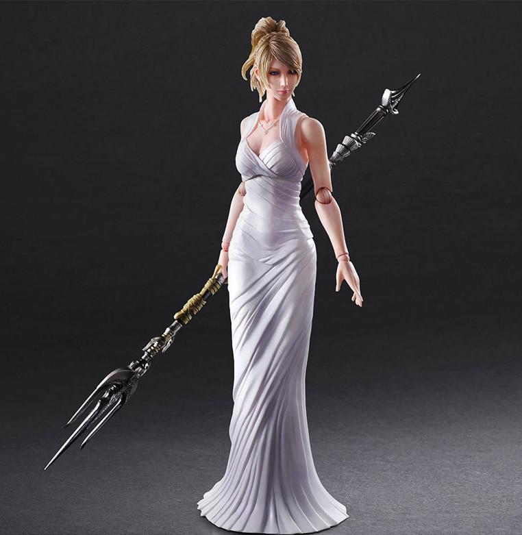 Free Shipping 10 Play Arts KAI Final Fantasy XV 15 Lunafreya Nox Fleuret Moveable Boxed 25cm PVC Action Figure Model Toy Gift