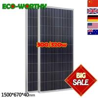 2 шт. 160 Вт поликристаллический фотоэлектрический pv панели солнечные модуль 12 В решетки батарея зарядки для яхты бытовой RV