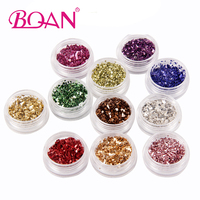 12Colors Set 2017 New Nail Art Glitter Laser Crushed Shell Bits For DIY Nail Polish UV