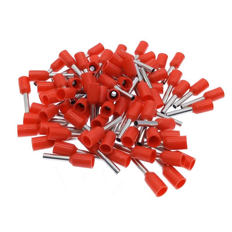 Frete grátis 1000 pçs e0508 e7508 tubular fio de pressão fria terminal conector terminais elétricos e1008 e1508 terminador