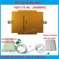 4G LTE FDD LTE 65db repetidor impulsionador repetidor 4G sinal impulsionador 4G 2600 mhz LTE 4G amplificador de sinal de reforço kit com antena