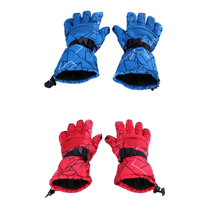2pcs Skiing Gloves Warm Snow Motorcycle Gloves Windproof Waterproof Unisex Riding Cycling Gloves