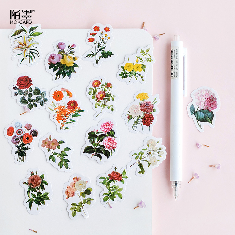 46pcs/pack Flowers Bloom Sticker Label Decorative Sealing Sticker For Envelopes Gifts Packaging Bake Decoration Diy Ablum Diary46pcs/pack Flowers Bloom Sticker Label Decorative Sealing Sticker For Envelopes Gifts Packaging Bake Decoration Diy Ablum Diary