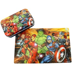 Image 4 - Marvel  Avengers Spiderman Cars Disney Pixar Cars 2 Cars 3 Puzzle Toy Children Wooden Jigsaw Puzzles Toys for Children Gift
