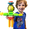 Cerdas De Goma suave Bloques Juguetes de Educación Temprana Del Bebé Bloques de Construcción de Ladrillos de Juguete Creativo Compatible Legoes Regalos de Navidad Para Niños
