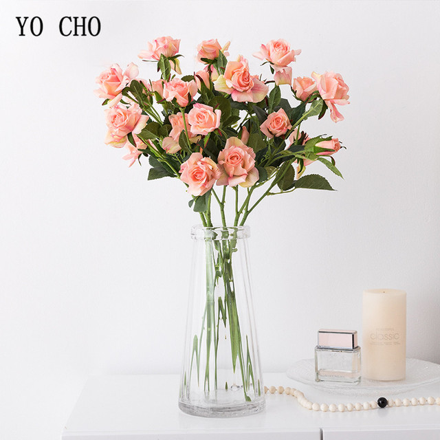 Yo cho real touch rose artificial flower rose bridal bouquet wedding yo cho real touch rose artificial flower rose bridal bouquet wedding decoration accessories home room decor junglespirit Images